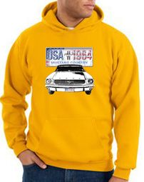 Ford Mustang Hoodie USA 1964 Country Gold Hoody
