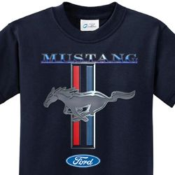 Ford Mustang Kids Shirt Mustang Stripe Tee T-Shirt