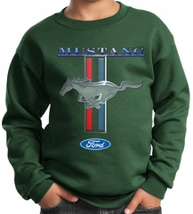 Ford Mustang Kids Sweatshirt Mustang Stripe Sweat Shirt