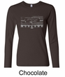 Ford Mustang Ladies Shirt Legend Honeycomb Grille Long Sleeve Tee