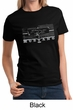 Ford Mustang Ladies Shirt Legend Honeycomb Grille Tee T-Shirt