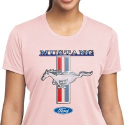 Ford Mustang Ladies Shirt Mustang Stripe Moisture Wicking Tee T-Shirt