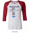 Ford Mustang Ladies Shirt Mustang Stripe Raglan Tee T-Shirt