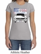 Ford Mustang Ladies Shirt USA 1964 Country Crewneck Tee T-Shirt