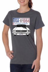 Ford Mustang Ladies Shirt USA 1964 Country Organic Tee T-Shirt