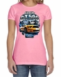Ford Mustang Ladies Shirt Yellow White GT500 Crewneck Tee T-Shirt