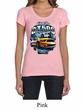 Ford Mustang Ladies Shirt Yellow White GT500 Scoop Neck Tee T-Shirt