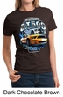 Ford Mustang Ladies Shirt Yellow White GT500 Tee T-Shirt