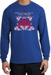 Ford Mustang Long Sleeve Shirt - Girls Run Wild Adult Royal T-Shirt