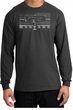 Ford Mustang Long Sleeve Shirt Legend Honeycomb Grille Charcoal Shirt