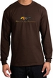 Ford Mustang Long Sleeve Shirt - Make It My Grill Adult Brown T-Shirt