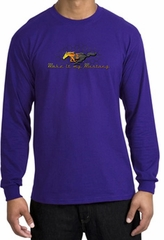 Ford Mustang Long Sleeve Shirt - Make It My Grill Adult Purple T-Shirt