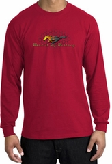 Ford Mustang Long Sleeve Shirt - Make It My Grill Adult Red T-Shirt