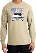Ford Mustang Long Sleeve Shirts - USA 1964 Country Adult T-Shirts
