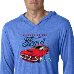 Ford Mustang Mens Shirt Chairman of the Ford Lightweight Hoody Tee