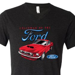 Ford Mustang Mens Shirt Chairman of the Ford Tri Blend V-neck Tee