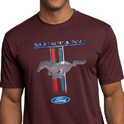 Ford Mustang Mens Shirt Mustang Stripe Moisture Wicking Tee T-Shirt