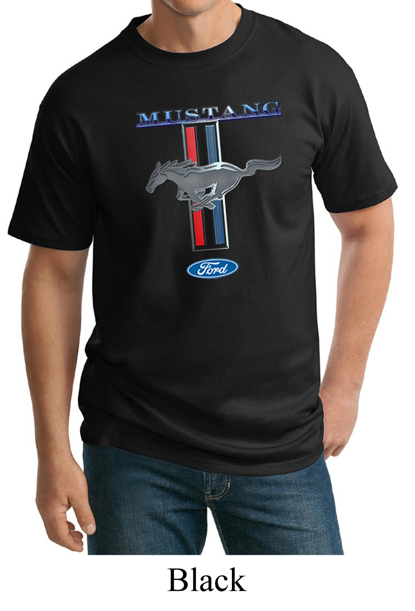 big and tall t-shirt Ford Mustang stripe tee shirt tall shirts for men