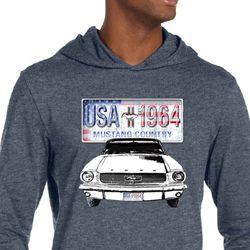 Ford Mustang Mens Shirt USA 1964 Country Lightweight Hoody