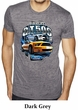 Ford Mustang Mens Shirt Yellow White GT500 Burnout Tee T-Shirt