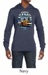 Ford Mustang Mens Shirt Yellow White GT500 Lightweight Hoody