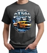 Ford Mustang Mens Shirt Yellow White GT500 Organic Tee T-Shirt
