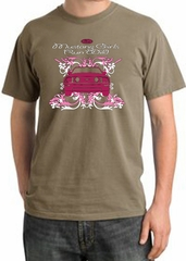 Ford Mustang Pigment Dyed T-Shirt - Girls Run Wild Sandstone Tee Shirt
