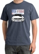 Ford Mustang Pigment Dyed T-Shirt USA 1964 Country Scotland Blue Shirt