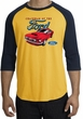 Ford Mustang Raglan Shirt - Chairman Of The Ford Adult Gold/Navy