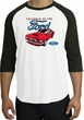 Ford Mustang Raglan Shirt - Chairman Of The Ford Adult White/Black