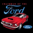 Ford Mustang Raglan Shirt - Chairman Of The Ford Adult White/Gold