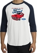 Ford Mustang Raglan Shirt - Chairman Of The Ford Adult White/Navy