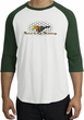 Ford Mustang Raglan Shirt - Make It My Mustang Grill White/Forest Tee