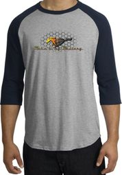 Ford Mustang Raglan Shirts - Make It My Mustang Grill Adult Tee Shirts