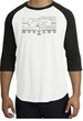 Ford Mustang Raglan T-Shirt Legend Honeycomb Grille White/Black Shirt