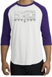 Ford Mustang Raglan T-Shirt Legend Honeycomb Grille White/Purple Shirt
