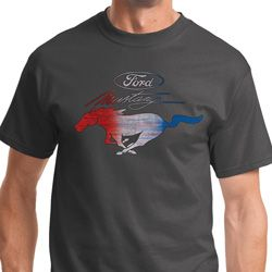 Ford Mustang Red White and Blue Mens Shirts