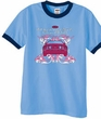 Ford Mustang Ringer T-shirt Girls Run Wild Carolina Blue/Navy Shirt