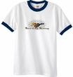 Ford Mustang Ringer T-shirt - Make It My Mustang Grill White/Navy Tee