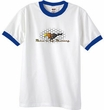 Ford Mustang Ringer T-shirt - Make It My Mustang Grill White/Royal Tee