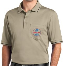 Ford Mustang Red & Blue Shelby Polo Shirt - Tan/Black