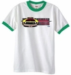 Ford Mustang Shirt Boss 302 Yellow Mustang Ringer White/Kelly Green