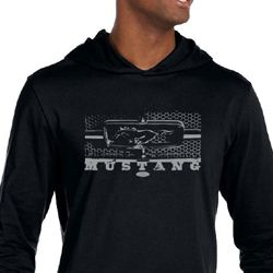 Ford Mustang Shirt Legend Honeycomb Grille Lightweight Hoodie Tee