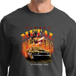 Ford Mustang Shirt Street Metal 69 Runnin Wild Long Sleeve Shirt