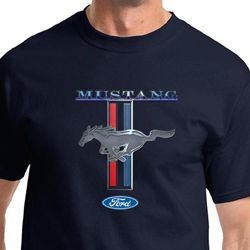 Ford Mustang Shirt Stripe Mens Tee T-Shirt