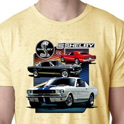 Ford Mustang Shirt Various Shelby Mens Burnout Tee T-Shirt