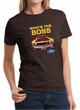 Ford Mustang Shirt Who's The Boss 302 Ladies Tee T-Shirt