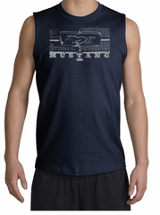 Ford Mustang Shooter - Legend Honeycomb Grille Adult Navy Muscle Shirt