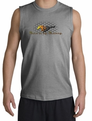 Ford Mustang Shooter Shirt - Make It My Grill Sports Grey Muscle Shirt