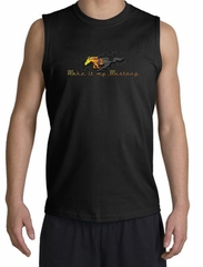 Ford Mustang Shooter Shirt Make It My Mustang Grill Black Muscle Shirt